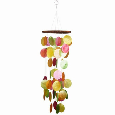"Capiz Chime 22"" Soft Colors - Om Gallery"