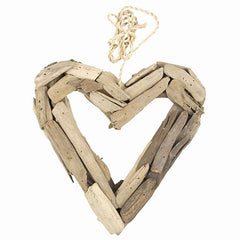 Driftwood Open Heart Small
