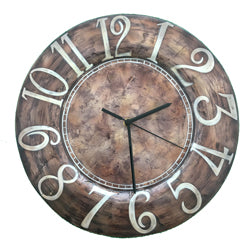 Clock Wall Decor, Brown