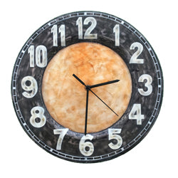 Clock Wall Decor, Black