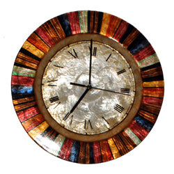 Clock Wall Decor, Multicolor Face