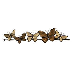 Butterflies on a Wire Wall Art, Brown