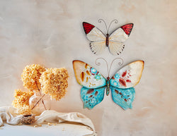 Wall Butterfly Blue and Pearl