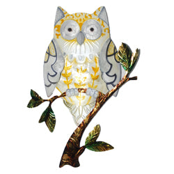 Owl Wall Art, Yellow
