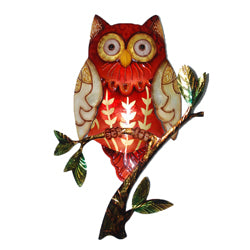 Owl Wall Art, Red