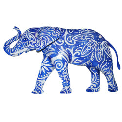 Wall Decor - Elephant, Blue