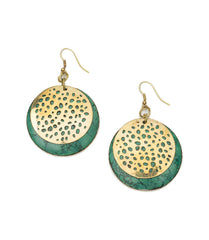 Goddess Tara Green Earrings