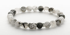 Men's Rutilated Quartz Buddha Bracelet