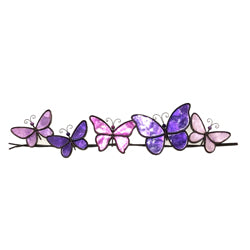 Butterflies on a Wire Wall Art, Purple