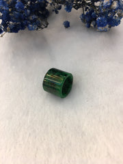 Dark Green Jade Barrel (PE379)