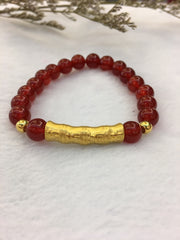 Pure Gold Bamboo Bracelet (BR154)