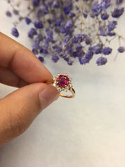 Natural Ruby Ring (Unheated) (GE066)