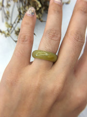 Yellow Hololith Jade Ring (RI056)