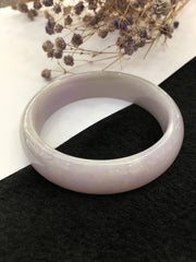 Lavender Jade Bangle - Round (BA006)