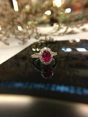 Natural Ruby Ring (Unheated) (GE030)