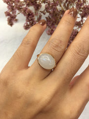 Natural Nephrite Jade Ring - Cabochon (RI261)