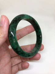 Dark Green Bangle - Round (BA063)