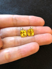 Yellow Sapphire Earrings (GE004)