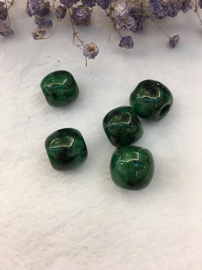 Dark Green Jade Barrels (PE303)