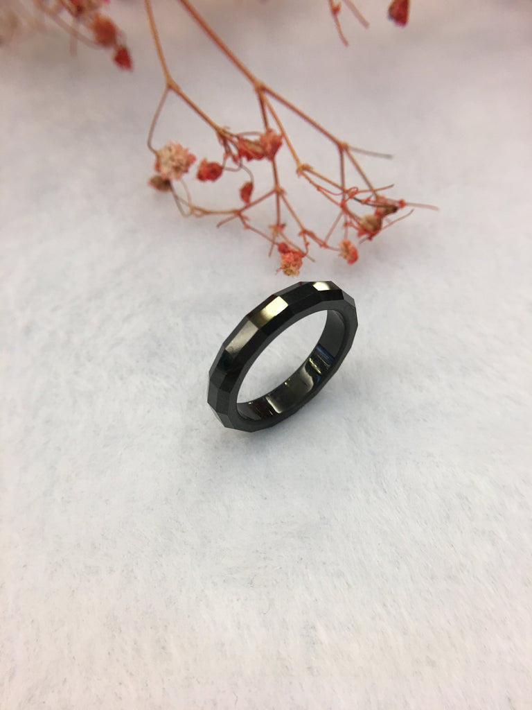 Black Jade Hololith Ring (RI211)