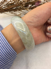 Light Green Jade Bangle - Round (BA029)