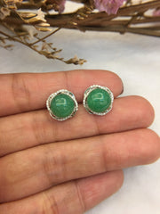 Green Jade Ball Earrings (EA212)