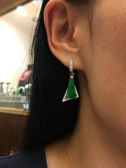 Icy Green Jade Earrings (EA189)