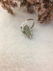 Icy Green Jade Ring - Goldfish (RI171)