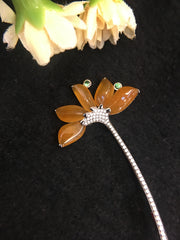Icy Yellow Brooch - Flower (OT001)