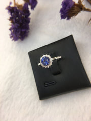 Natural Blue Sapphire Ring (Unheated) (GE114)