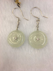 Icy Jade Earrings - Safety Coin (EA005)