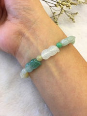 Multi-coloured Jade Bracelet - Peanuts (BR132)