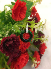 Dark Green Earrings - Loops (EA264)