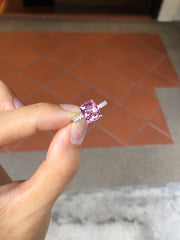 Natural Pink Spinel Ring (GE038)