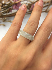 Icy White Jade Abacus Ring (RI029)