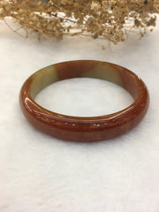 Red Jade Bangle - Round (BA185)