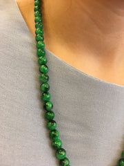 Green Jade Beads Necklace (NE036)