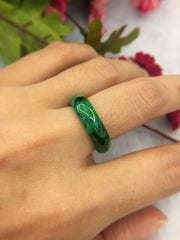 Dark Green Abacus Ring (RI108)