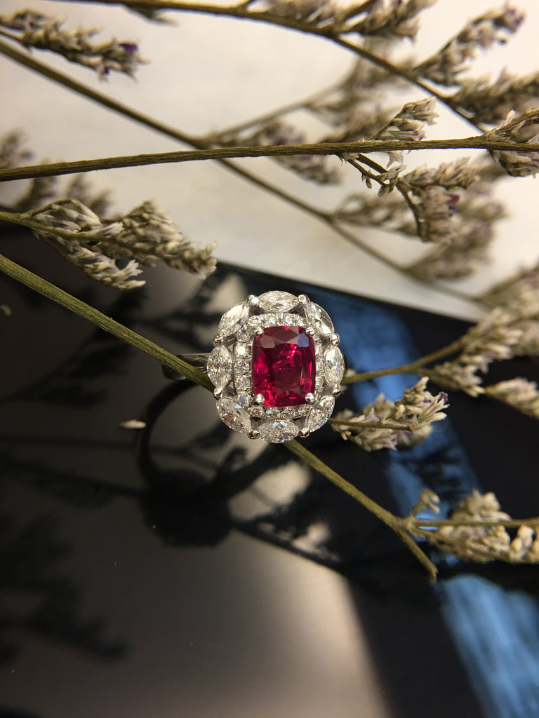 Natural Ruby Ring (Unheated)(GE103)
