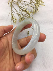 Icy Jade Bangle - Round (BA125)