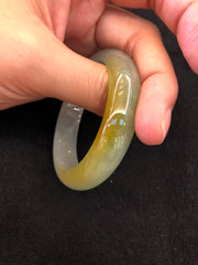 Greenish Yellow Bangle - Round (BA087)