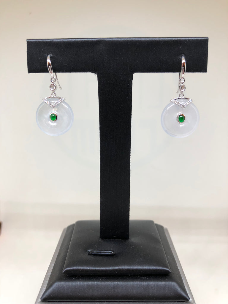 Icy Earrings - Safety Coin (EA237)