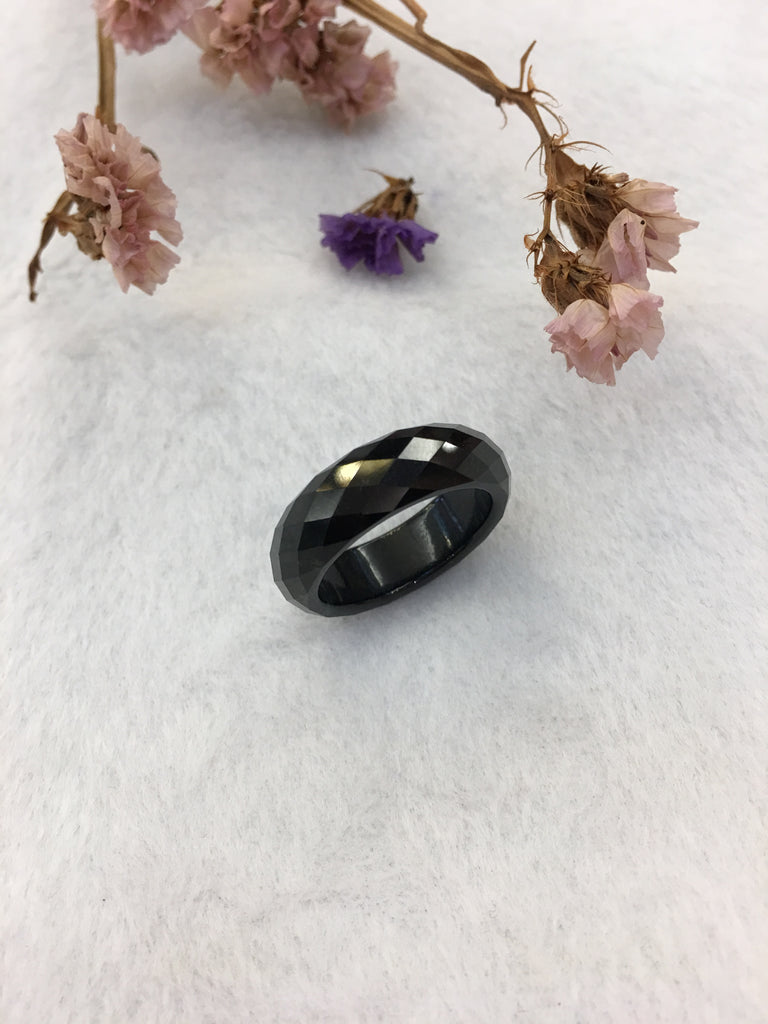 Black Jade Hololith Ring (RI288)