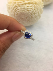 Natural Blue Sapphire Ring (Unheated) (GE087)