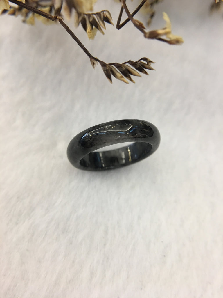 Black Jade Hololith Ring (RI043)