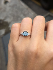 Natural Greyish Blue Spinel Ring (GE065)