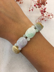 Multi-colours Jade Bracelet - Tortoise Shell (BR031)