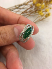 Green Jadeite Ring - Marquise (RI126)