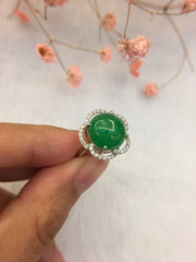 Green Jade Ring - Cabochon (RI048)