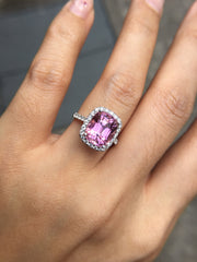 Natural Pink Tourmaline Ring (GE099)